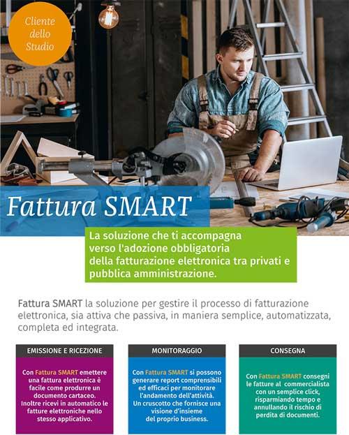 Immagine della brochure di fattura smart