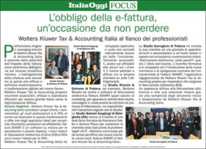 Immagine dell'articolo su Italia Oggi dello Studio Bulzoni Sangiorgi